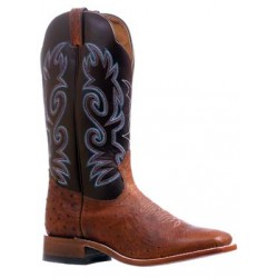 Boulet Smooth Ostrich - Wide square toe boot 5522