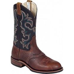 "Brown Buffaloco Bison/Black Manchester 11"" 8517 Canada West Men's BRAHMA EZ-Flex Ropers"
