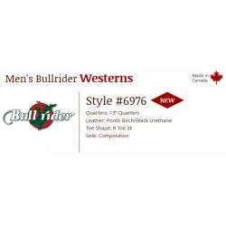 Men's Ponto Birch/Black 6976 Canada West Bullriders