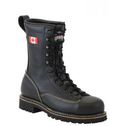 Canada West 14394 Black Forrester Fire Retandant Steel-Toe Lace Work Boots CSA Grade 1