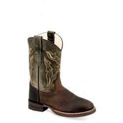 OLD WEST BRC 2001 Children's Broad Square Round Toe Boots