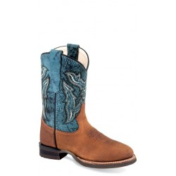 OLD WEST BRC 2002 Children's Broad Square Round Toe Boots