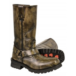 "Milwaukee MBM9005/MBM9005W Men's Distressed Brown 11"" Inch Classic Harness Square Toe Boot"