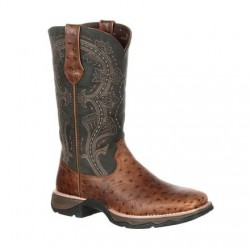 Lady Rebel by Durango DRD0149 Women's Ostrich Embossed Pull-On Western Boot