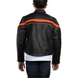 Kid/Youth KD812 Leather Motorcycle Jacket