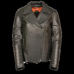 Women's Classic M/C Jacket w/ Rivet Detailing