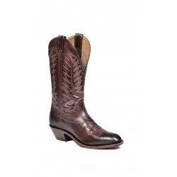 Boulet Mens Ranch Hand Tan Western Dress Toe Boot 8064