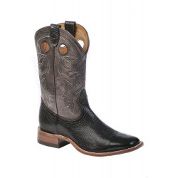 Boulet BLack Taurus Organza Grey Mens Wide Square Toe Boot 9033