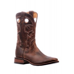 """Boulet 13"""" Laid Back Tan Spice Wide Square Toe Boot 6266 (single stitch)"""