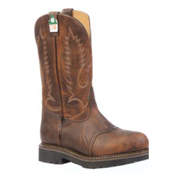 "Boulet Mens 12"" LaidBack Tan Spice Steel toe work boot 5176"