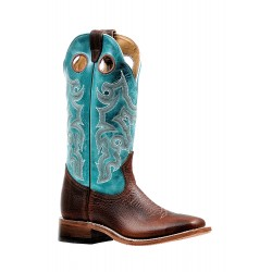 "Boulet 13"" Ladies Bisonte Utta Whiskey Wide Square Toe Boot 6320"