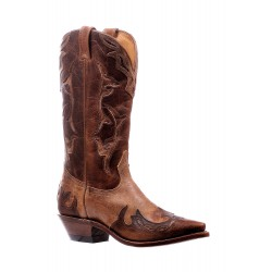 "Boulet 13"" Ladies Damasko Taupe Damiana Moka Snip Toe Boot 6610"