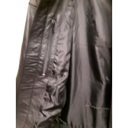 Mens Branded, Black Soft Leather Casual Jacket