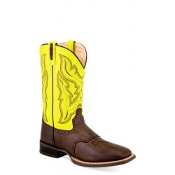OLD WEST -Mens Broad Square Toe Boot BSM1884
