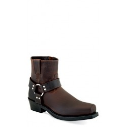 OLD WEST - Men's Harness / Biker-Style Boots - Brown