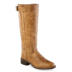 """Old West LB1601 14"""" Womens Tan Fry Fashion Wear Boots"""