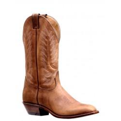 Boulet Mens Bison Vintage Rust Western Dress Toe Boot 7119