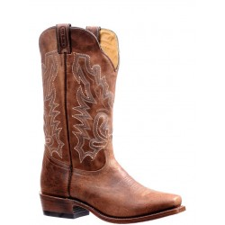 "Boulet Mens 13"" Bison Vintage Rust Cutter toe boot 7201"