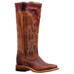 "Boulet Ladies 16"" BISON Bison Shrunken Old Town Rough Rider Wide Square Toe Boot 7244"
