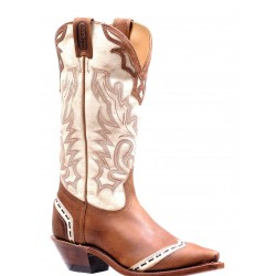 "Boulet 13"" Ladies BISON Vintage Rust Desert Bone Snip toe boot 7615"