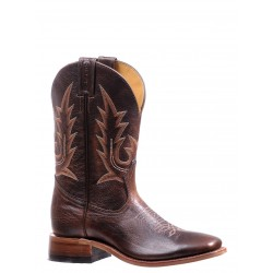 "Boulet 11"" Challenger Ladies Damiana Moka single stitch Realflex sole Wide Square toe boot 7235"
