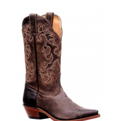 "Boulet's 12"" Rugged Country Ladies Brown Pull up Cowhide Snip toe 6804"