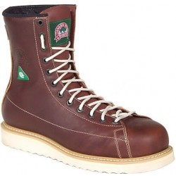 Canada West 34406 Insulated Steel-Toe Red Dog Lace to Toe Iron Worker Work Boots CSA Grade 1