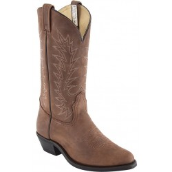 "Men's 13"" Alamo Tan 5558 R-Toe 2E Canada West Westerns"