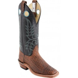 "Safari Cognac/Black Micchatto 14"" Canada West 4110 Ladies BRAHMA Ropers"