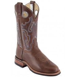 "Arizona Cafe 13"" Canada West 4112 Ladies BRAHMA Ropers w Vibram sole"