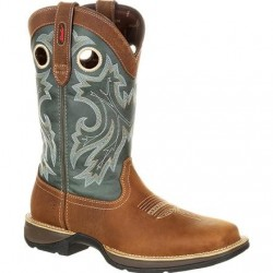 """Rebel by Durango Men's DDB0131 12"""" SADDLEHORN AND CLOVER Western boot with DSS"""