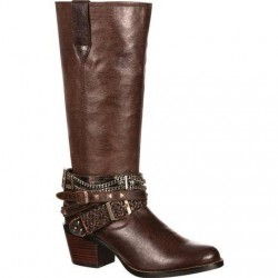 "Durango Women's DRD0073 14"" Philly Accessorized Western Boot - Brown"