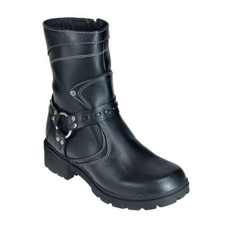 eb5d6b2e9f4 Milwaukee Boots: Women's Daredevil Black Leather Motorcycle Boots MVB239