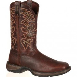 "Rebel by Durango Men's DB5434 11"" Dark Chocolate Pull-on Western boot with DSS"
