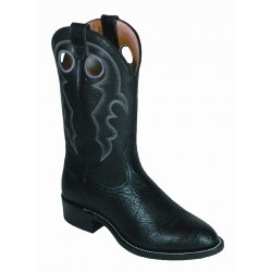 "Boulet 12"" Super Roper Sporty Black Deer Tan Round toe 0027"