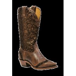 "Boulet 13"" Ladies Selvaggio Wood Barocco Calf Tabacco snip toe boot 1655"