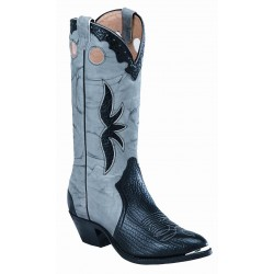 Boulet Shoulder Black medium cowboy toe boot 2058
