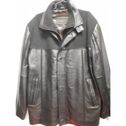 Leather & Wool combo jacket Black/black