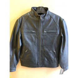 Men Lamb skin Casual jacket 502 black