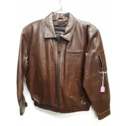 Cognac Buffalo Casual Leather Jacket with Zipout Liner