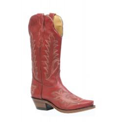 """Boulet 13"""" Ladies Deerlite Red snip toe boot 3636"""