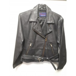 Womens MICHIGAN Cowhide Motorcycle Jacket