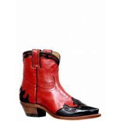Deerlite Red / Tianjin Black snip toe short Boot by BOULET