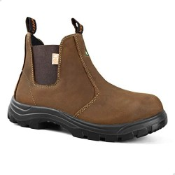 Tiger Men's Safety Boots Steel Toe CSA Lightweight Slip On Leather Work Boots 5925