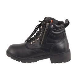 Women's Waterproof Side Zipper Plain Toe Boot Brand : Milwaukee Boots