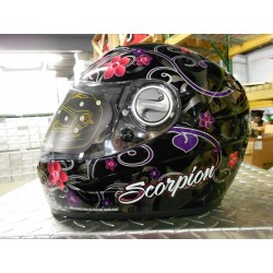 Scorpion EXO-500 Dahlia Helmet Black Red