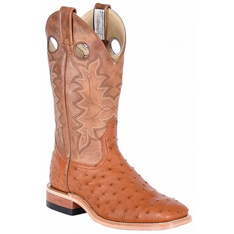 Canada West 8218 Cognac Full Quill Ostrich / Texano BRAHMA Ranchman Ropers