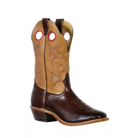 Boulet 9361 Ranch Hand Tan Vintage Square Toe Boots