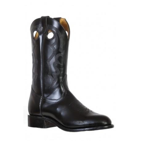Boulet 9355 Genesis Black Round Toe Boots