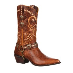 CRUSH BY DURANGO WOMEN'S HEART CONCHO WESTERN BOOT - DCRD180